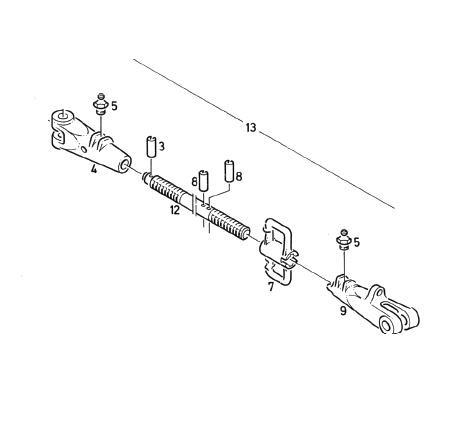 Verbindungsstange komplett Orginal Deutz Ersatzteil für Deutz DX 80