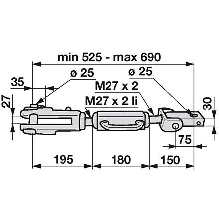 Hubstrebe passend für Steyr Schleppertypen 8060, 8070 in Top Qualität anstelle von Steyr 13370074020