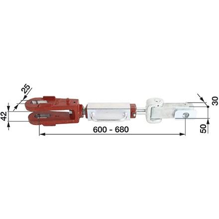 Hubstrebe 42mm passend für Steyr Schleppertypen 8080, 8090 in Top Qualität