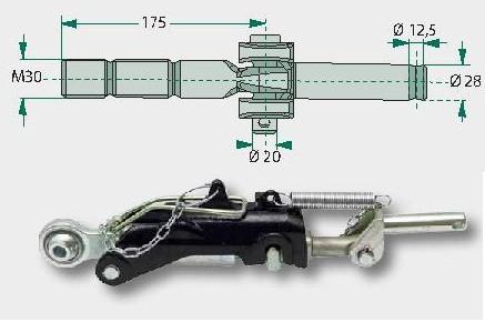 Stabilisator passend für Schleppertypen: New Holland TM 115, 125, 135, 150, 165