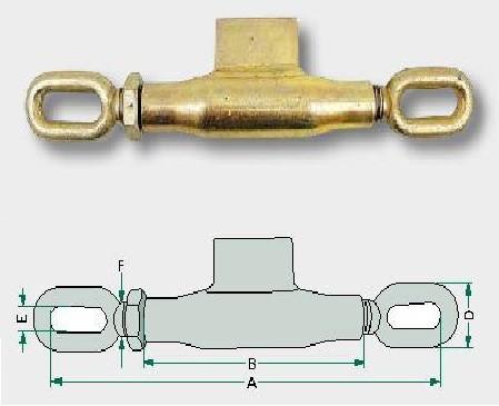Spannschloss M16x2mm in Top Qualität mit Arbeitslänge 245-330mm