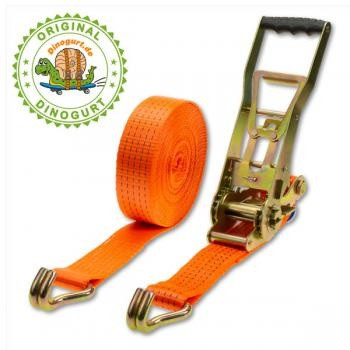 Langhebel-Zurrgurt 2-teilig, Breite 50mm, Länge 10m, Gurtlast 5000kg in DIN EN12195-2 geprüfter Qual